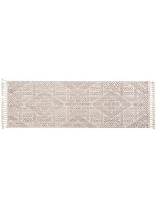 Läufer Laila Tang in Beige/Creme, Flor: Polyester, Cremefarben, 80 x 240 cm