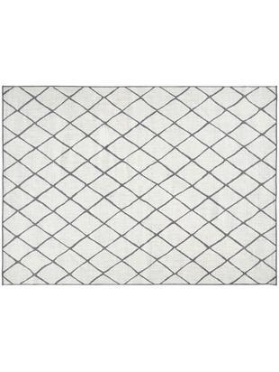 Tappeto reversibile da interno-esterno Malaga, Grigio, color crema, Larg. 80 x Lung. 150 cm (taglia XS)