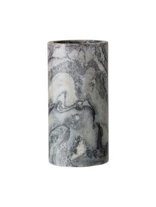 Wazon z marmuru Nature, Marmur, Szary, biały, Ø 7 x 15 cm