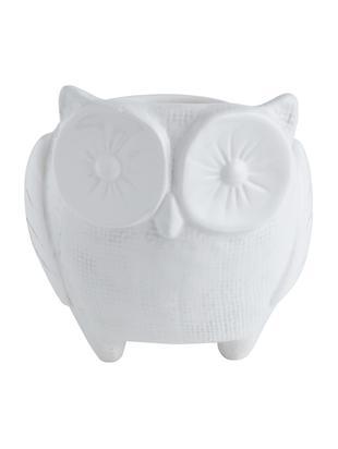 Portavaso Owl, Ceramica, Bianco, Ø 11 x Alt. 12 cm
