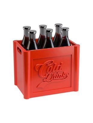 Set de pinchos para comer Cold Drinks, 7pzas., Polipropileno, acero inoxidable, Verde, rojo, An 7 x Al 8 cm