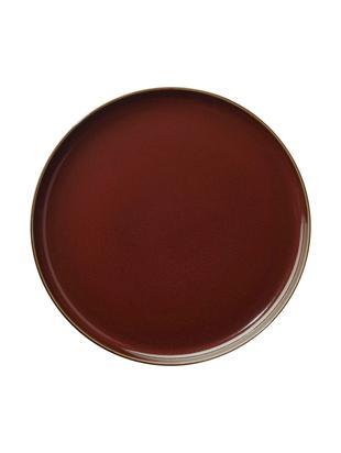 Talerz duży Kolibri, 6 szt., Porcelana, Rudy, brązowy, Ø 27 cm