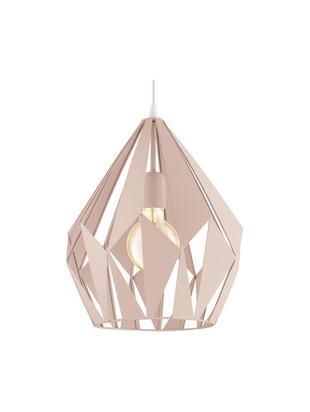 Lampada a sospensione stile nordico Carlton, Colori albicocca, Ø 31 x Alt. 40 cm