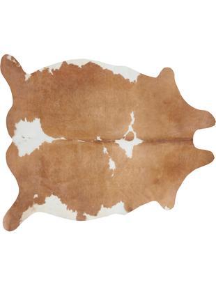 Kuhfell-Teppich Chester aus Kunstfell, Cremefarben, Braun, 155 x 190 cm