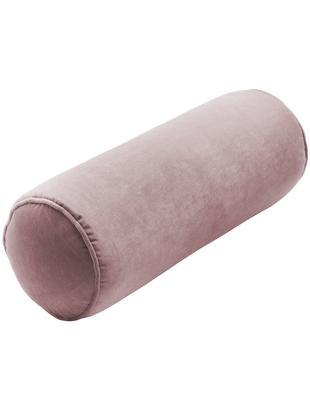 Cuscino a rullo in velluto lucido Monet, Rivestimento: velluto di poliestere, Rosa cipria, Ø 18 x 50 cm