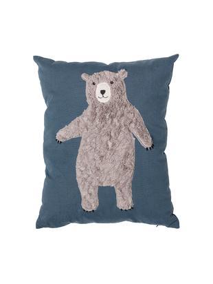 Cojín Bear, con relleno, Funda: 70%algodón, 30%poliéste, Azul, marrón, An 40 x L 50 cm