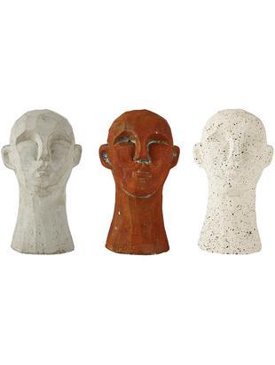 Set 3 oggetti decorativi Figure Head, Cemento, Multicolore, Ø 9 x Alt. 15 cm