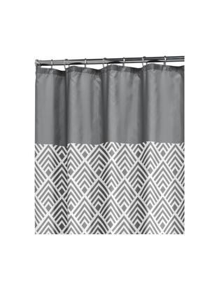 Rideau de douche à imprimé gris Allie