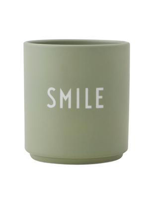 Tazza Favourite, Porcellana Fine Bone China smaltata, Verde, bianco, Ø 8 x A 9 cm