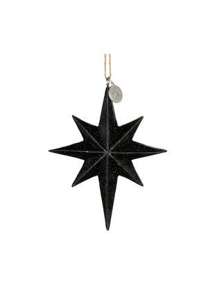 Baumanhänger Serafina Star, Schwarz, 10 x 12 cm