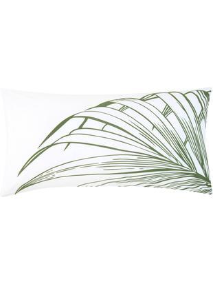 Renforcé-Kissenbezüge Alessa, 2 Stück, Webart: Renforcé, Weiß, Hellgrün, Dunkelgrün, 40 x 80 cm
