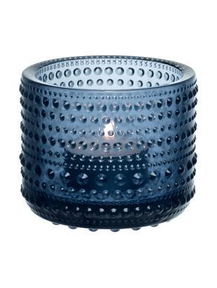 Waxinelichthouder Kastehelmi, Glas, Regenblauw, Ø 6 cm