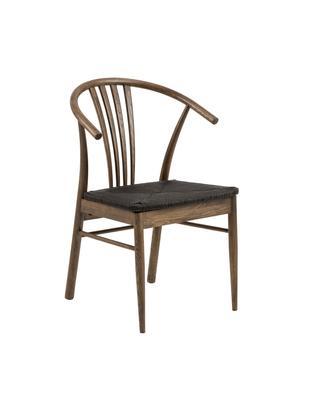 Krzesło York, Korpus: drewno dębowe, bejcowane, Czarny, ciemnybrązowy, S 54 x G 54 cm