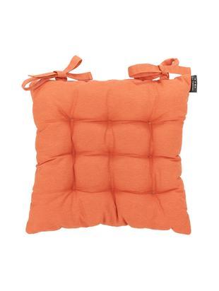 Einfarbiges Sitzkissen Panama, Bezug: 50% Baumwolle, 45% Polyes, Orange, 45 x 45 cm