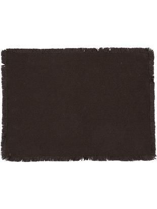 Tischsets Kivia, 2 Stück, Baumwolle, Anthrazit, 35 x 45 cm
