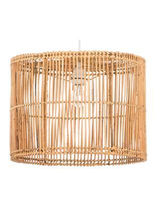 Lampada a sospensione in rattan Sea, Rattan, finitura naturale, Bianco, rattan, finitura naturale, Ø 40 cm x Alt. 30 cm