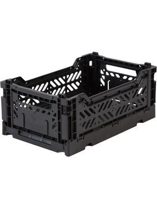 Cesta piccola pieghevole ed impilabile Black, Materiale sintetico riciclato, Nero, Larg. 27 x Alt. 11 cm
