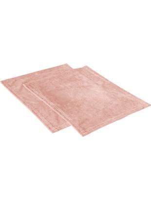 Podkładka z aksamitu Simone, 2 szt., Aksamit poliestrowy, Blady różowy, S 35 x D 45 cm