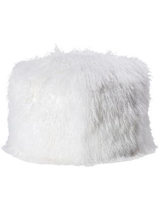 Pouf in pelliccia di agnello Cube