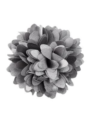 Flor decorativa Flor, 6uds., Poliéster, Gris, Ø 6 cm