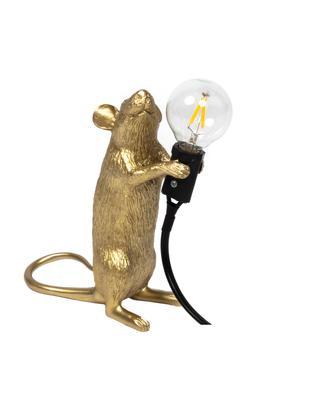 Design Tischleuchte Mouse, Goldfarben, 6 x 15 cm