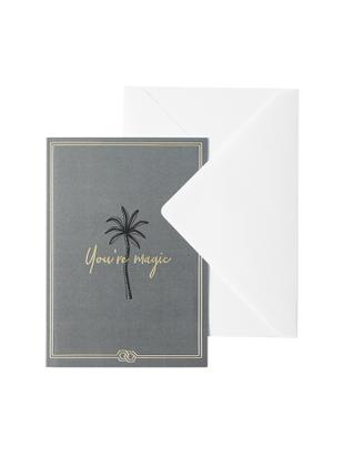 Biglietto d'auguri You're Magic, Carta, Grigio verde, dorato, nero, Larg. 12 x Alt. 16 cm