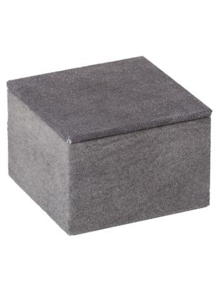 Pudełko do przechowywania z zamszu Notabilia, Tapicerka: zamsz, Szary kamienny, S 11 x W 7 cm