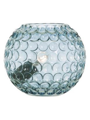 Lámpara de mesa de vidrio Sigrid, Pantalla: vidrio, Cable: plástico, Azul, Ø 20 x Al 17 cm