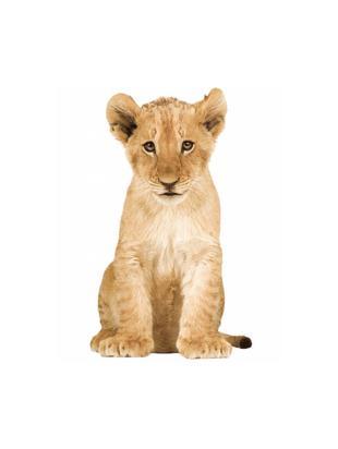 Adesivo murale Lion Cub, Film vinilico autoadesivo, opaco, Marrone, Larg. 28 x Alt. 48 cm