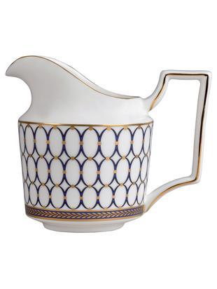 Milchkännchen Renaissance Gold, Weiß, Blau, Gold, Ø 8 x H 10 cm