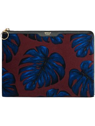 Etui na iPad Air LEaves, Bordowy, niebieski, S 24 x W 23 cm