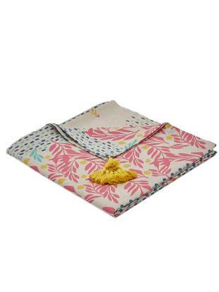 Tovaglia Fleuri, Cotone, Beige, rosa, giallo, blu, verde, Per 2-4 persone  (Larg. 145 x Lung. 145 cm)