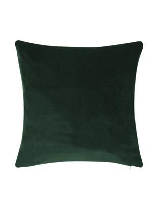 Federa arredo in velluto in verde smeraldo Alyson, Velluto di cotone, Verde smeraldo, Larg. 40 x Lung. 40 cm