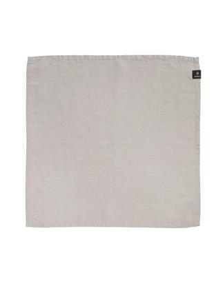 Tovaglietta Sunshine, 4 pz., 50% lino, 50% cotone, Bianco cenere, L 45 x P 45 cm