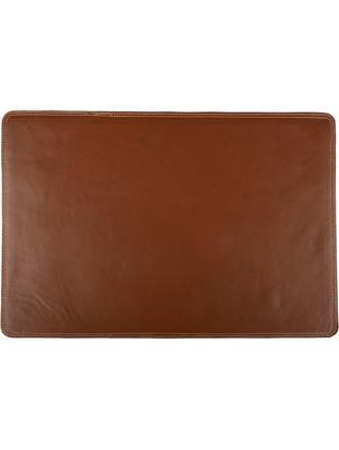 Tovaglietta americana in pelle Buffalo, Pelle di bufalo, Cognac, Larg. 30 x Lung. 45 cm