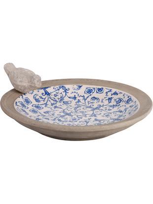Karmnik Adela, Ceramika, Niebieski, złamana biel, beżowy, Ø 34 x W 11 cm