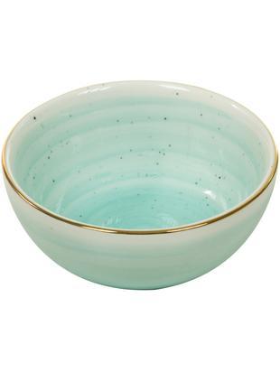 Ciotola fatta a mano Bol, 2 pz., Porcellana, Blu turchese, Ø 10 x Alt. 6 cm