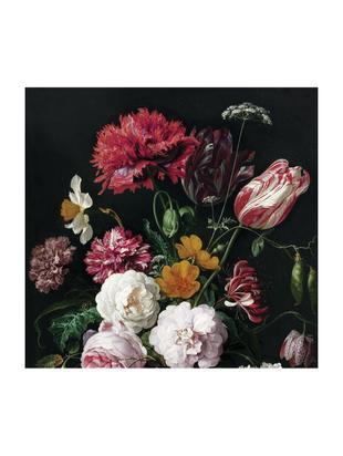 Adesivo murale Golden Age Flowers, Pelo ecologico e biodegradabile, Multicolore opaco, Larg. 292 x Alt. 280 cm