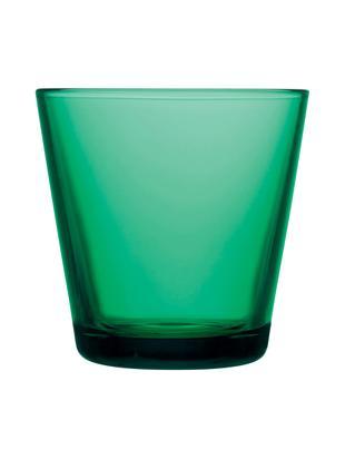 Bicchiere acqua Kartio 2 pz, Vetro, Smeraldo, Ø 8 x Alt. 8 cm