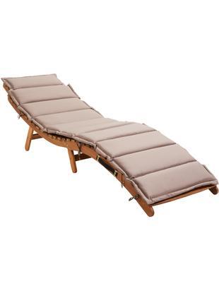 Leżak z drewna Sun Waver, Drewno akacjowe, lakierowane, Drewno akacjowe, S 54 x D 188 cm