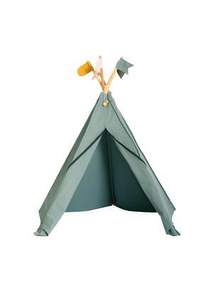 Tipi dla dzieci z bawełny organicznej Hippie, Bawełna organiczna, certyfikat GOTS, Szary, S 135 x W 135 cm