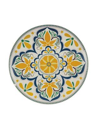 Piatto da portata dipinto a mano Sicilia, Dolomite, dipinto a mano, Multicolore, Ø 34 x Alt. 4 cm