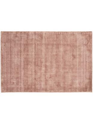 Tappeto in viscosa tessuto a mano Jane, Vello: 100% viscosa, Retro: 100% cotone, Terracotta, Larg. 120 x Lung. 180 cm (taglia S)