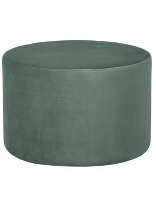 Samt-Hocker Daisy, Bezug: Samt (Polyester) 15.000 S, Rahmen: Mitteldichte Holzfaserpla, Hellgrün, Ø 60 x H 41 cm