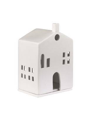 Portavelas Building, Porcelana, Blanco, An 10 x Al 15 cm