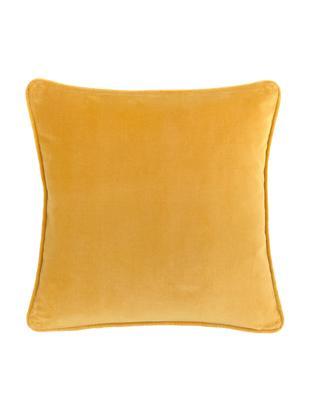 Federa arredo in velluto in giallo ocra Alyson, Velluto di cotone, Ocra, Larg. 40 x Lung. 40 cm