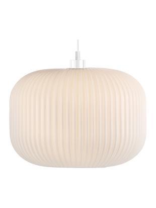 Lampa wisząca ze szkła opalowego Mildford, Szkło opalowe, Biały, Ø 30 x W 28 cm