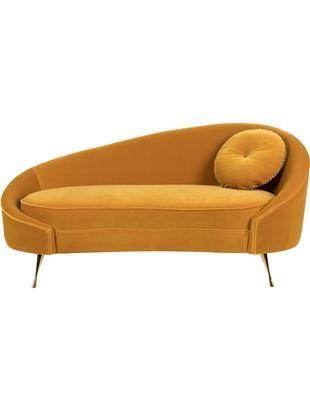 Samt-Sofa I Am Not A Croissant (2-Sitzer), Bezug: Polyestersamt 30 000 Sche, Füße: Edelstahl, beschichtet, Rahmen: Sperrholz, Samt Ockergelb, 168 x 76 cm