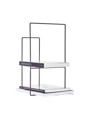 Bücherregal Rewire aus Metall, Metall, pulverbeschichtet, Schwarz, 29 x 46 cm