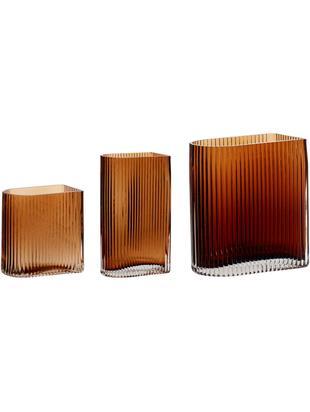 Vasen-Set Bernhard aus Glas, 3-tlg., Glas, Bernsteinfarben, Sondergrößen